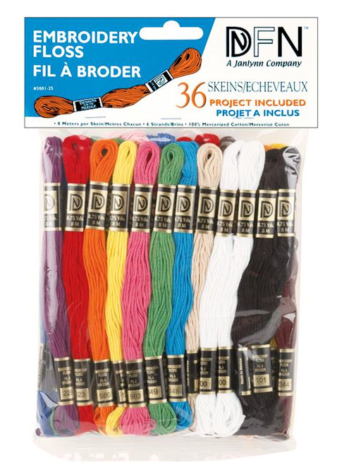 Janlynn / DFN - 36 Skeins of Primary Colors Embroidery Floss