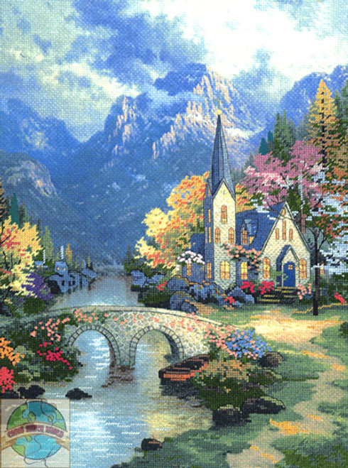 Candamar / Thomas Kinkade - Mountain Chapel