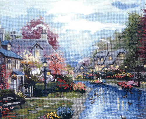 Candamar / Thomas Kinkade - Lamplight Brooke (COUNTED)