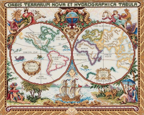 Janlynn Platinum Collection - Olde World Map