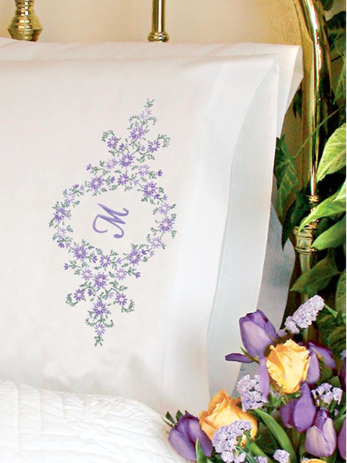Dimensions -  Daisy Monogram Pillowcases
