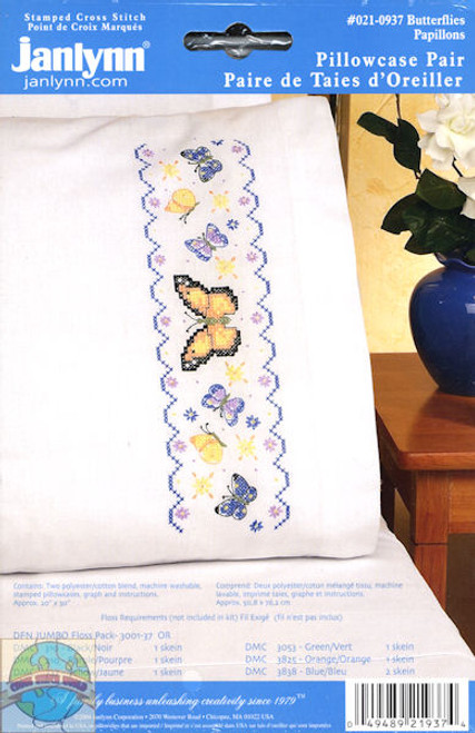 Janlynn - Butterflies Pillowcases