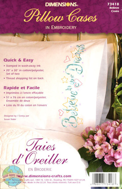 Dimensions - Believe Pillowcases (2)