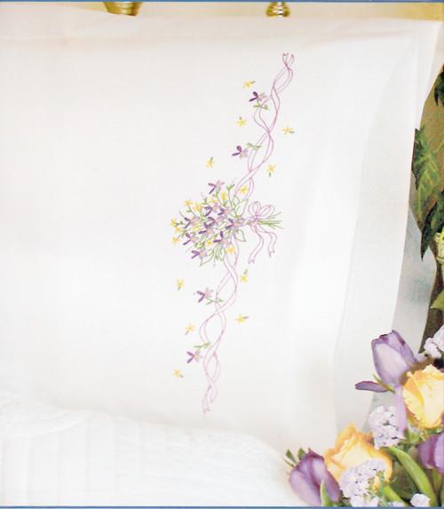 Dimensions - Violets Nosegay Pillow Cases