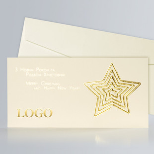 Christmas Star Ivory&Gold