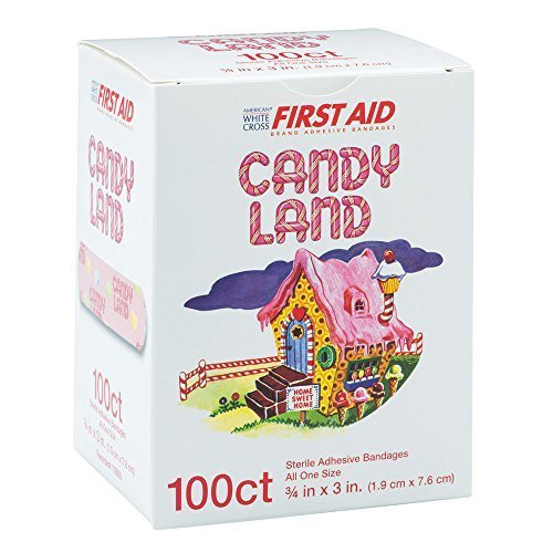 "Derma Sciences - Candy Land Adhesive Bandage, 3/4"" X 3"", 100/Bx"