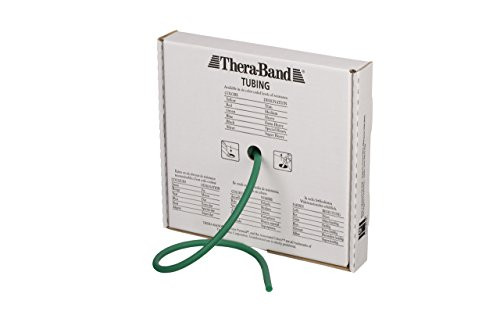 Theraband Professional Latex Resistance Tubing, 25 Foot, Green, Heavy, Intermediate Level 1