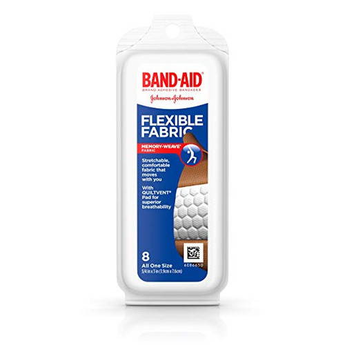 Band-Aid Brand Adhesive Bandages Flexible Fabric, 8 Count
