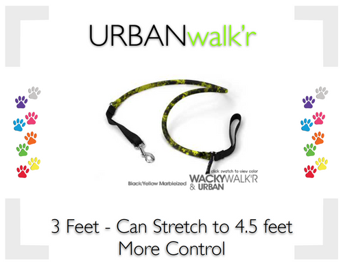 URBANwalk'r Black/Yellow - Small (6-12lbs)