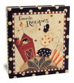 Half Page Recipe Card Binder-Dotty Farm