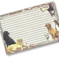 dog recipe card design