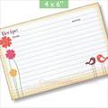 4x6  Recipe Cards - Small Birds Singing