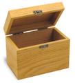 Moderna Oak Personalized 4x6 Recipe Card Box
