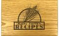 Wheat Grain Collection Oak Personalized 4x6 Recipe Card Box