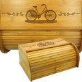 Bicycle Bamboo Breadbox