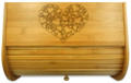 Hearts Bamboo Bread Box
