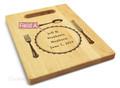 Silverware 9x12 Small Personal Cutting Board Handle Maple Wood