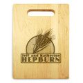 Wheat Grain 9x12 Small Personal Cutting Board Handle Maple Wood