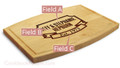 Banner Year 9x12 Grooved Engraved Cutting Board