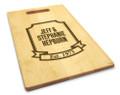 Banner Year 10x16 Handle Custom Cutting Board