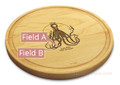 Choptipus 10in Round Maple Chopping Board with Juice Groove