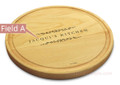 Classic Filigree 10in Round Engraved Cutting Board with Grooving