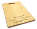 Classic Filigree 10x16 Handle Monogram Cutting Board