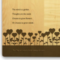 Garden Love 10x16 Handle Engraved Cutting Board