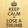 Keep Calm 10x16 Handle Custom Cutting Board