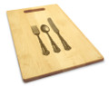 Knife Fork Spoon 10x16 Handle Monogram Cutting Board