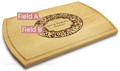 Paisley 10x16 Grooved Engraved Cutting Board