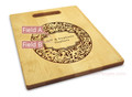 Paisley 10x16 Handle Monogram Cutting Board