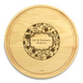 Petals 10in Round Maple Chopping Board with Juice Groove