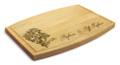 Rose Ribbon 9x12 Grooved Maple Cutting Board