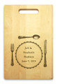 Silverware 10x16 Handled Personalized Cutting Board