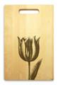 Tulip 10x16 Handle Engraved Cutting Board