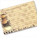4x6 Coffeebreak Recipe Card