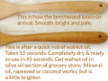 "Wood Solid Spoon - Beech 14"" Long"