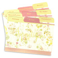4x6 Tabbed Recipe Card Dividers - Lemon Linen - 9 ea