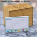 4x6 Recipe Card Kids Kitchen Blue Polka Dot  40ea