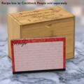 4x6 Recipe Card Velvet Vintage Wallpaper Red 40ea