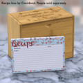 4x6 Recipe Card Flowerama Mama Baby Blue  40ea