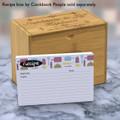 4x6 Recipe Card Kitchen Retro Purple Green 40ea