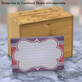 4x6 Recipe Card Purple Giftwrap Notecard or Thank You Card or  40ea