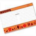 4x6 Recipe Card Retro Icon Orange 40ea