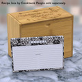 4x6 Recipe Card Lace Settings Ebony Black 40ea