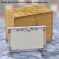 4x6 Recipe Card Ironworks Frame Purple 40ea