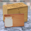 4x6 Recipe Card Woodwork Mason Jar Brown 40ea