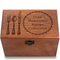 Silverware Personalized Cherry 4x6 Recipe Card Box
