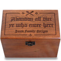 Gutenberg Abandon Diet Personalized Cherry 4x6 Recipe Card Box